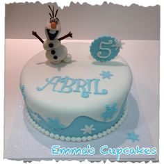 Emma's Cupcakes: Frozen cake / pastel frozen Pastel Frozen, Frozen 6, Frozen Cake, Frozen Fondant, Fondant Cakes, Cupcake Cakes, Frozen Themed Birthday Party, Frozen Party, 7th Birthday