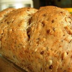 Country Seed Bread Allrecipes.com    This is my favorite recipe for seed bread.  I use millet, flax and sunflower instead of the listed seeds.  I keep the amounts the same however.  They make lovely rolls!!!! brush the tops with beaten egg whites!