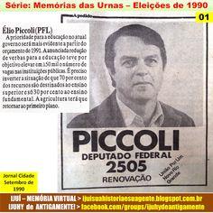 IJUÍ - RS - Memória Virtual: Série:Memória das Urnas > Eleições de 1990: Candid...