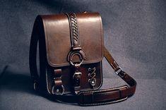 Leather bag made from genuine leather. Hand-made. Сумка - планшет из натуральной кожи. Ручная работа. .