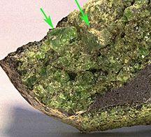 Kimberlite   Diamond crystalin kimberlite rock from Russia: Image courtesy of www ...