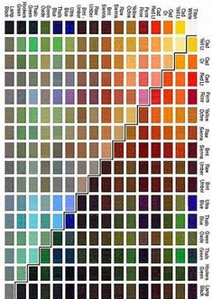Images Color Mixing Chart Acrylic, Mixing Paint Colors, Paint Color Chart, Paint Charts, Acrylic Colors, Color Charts, Acrylic Painting Tutorials, Watercolour Tutorials, Watercolor Mixing