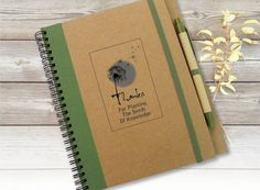 Custom Quote Journal Notebook Gift Idea Customized by LooveMyArt