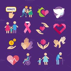 Charity vector logo icons. Human Icons. $5.00