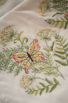 embroidery - love the flowers and leaves, skip the butterfly