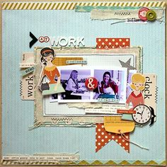 Layout :: great layering, interesting embellishments and love the vintage feel :: Creative Scrappers: Sketch #217
