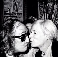 Salvador Dalí and Andy Warhol, 1980's.
