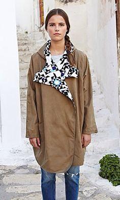 Kate Sheridan Geo Wax Coat from Plumo