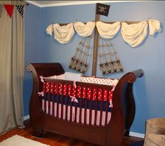 Pirate Ship Crib ~ We've Sailed Vast Oceans 'n Crossed Stormy Seas To Find A Pirate Nursery Suitable For Not Just Any Pirate Capt'n.