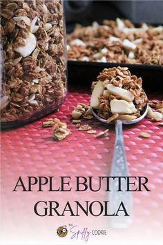 Enjoy apple season in granola form with this easy homemade apple butter granola. With freeze-dried apples and almonds mixed in it's a great topper for yogurt and more. #applebutter #appleseason #homemadegranola #granola #thespiffycookie Apple Recipes, Fall Recipes, Great Recipes, Healthy Breakfast Casserole, Breakfast Recipes, Pumpkin Granola, Homemade Apple Butter, Apple Pie Spice, Friend Recipe