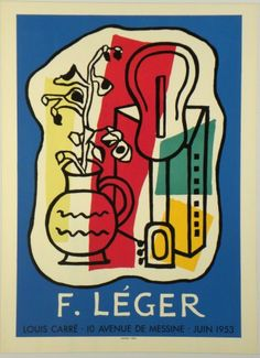 Original Künstler Plakat Léger Original Artist Poster Léger Affiche original Fernand Léger  title F. Léger  technology Color lithograph