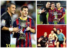 Barcelona campeo da Supercopa : Ol pessoal,  Ontem o Bara disputou a final da Supercopa da Espanha e empatou com o Atltico de Madrid em 0 x 0, como no primeiro jogo o resultado foi 1 x 1, o gol marcado fora foi decisivo e o Bara ficou com a taa.  No pude assistir ao jogo, mas pelos comentrios e principalmente pelo resultado, pude constatar que o Bara no jogou bem, e que a to sonhada parceria entre Messi e Ney