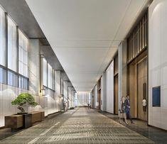 CCD施工图下载【ID:649426657】_知末案例馆 Lobby Interior, Interior Architecture, Ballroom Design, Office Entrance, Corridor Design, Interior Concept, Interior Design, Function Room, Modern Art Deco