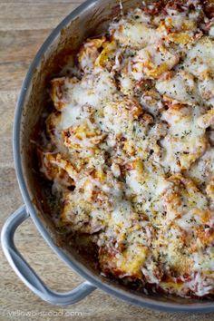 Italian Sausage and Tortellini Skillet