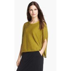 Ethereal Wool Short Poncho Top (Regular & Petite) Peridot Large