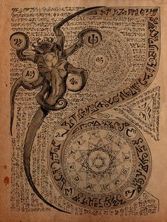 Necronomicon Page by DanielGovar H. P. Lovecraft | Create your own roleplaying game books w/ RPG Bard: www.rpgbard.com | Dungeons and Dragons Pathfinder RPG Warhammer 40k Fantasy Star Wars Exalted World of Darkness Dragon Age 13th Age Iron Kingdoms Fate Core Savage Worlds Shadowrun Call of Cthulhu Basic Role Playing Traveller Battletech The One Ring d20 Modern DND ADND PFRPG W40K WFRP COC BRP DCC TOR VTM GURPS science fiction sci-fi horror art
