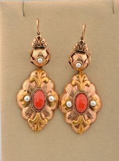 Spectacular Victorian night and day Sicilt coral by hawkantiques, £1450.00