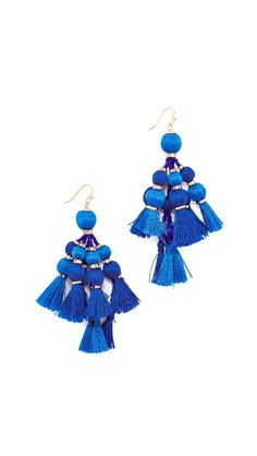 Something Blue Earrings That Make a Huge Statement