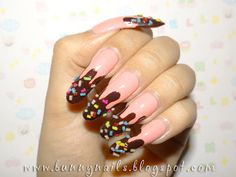 Chocolate dipped w/ Candy Nail Art