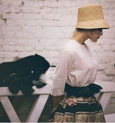 // ulyana sergeenko's hat....
