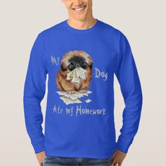My Pekingese Ate my Homework T-Shirt   pug humor, silver pug, cute pug puppies #christmascountdown #buyhandmade #pugtoy Cute Pug Puppies, Cute Pugs, Pug Pillow, Shetland Sheepdog Puppies, Dog Travel, Pekingese, Dog Recipes, Graphic Sweatshirt, T Shirt