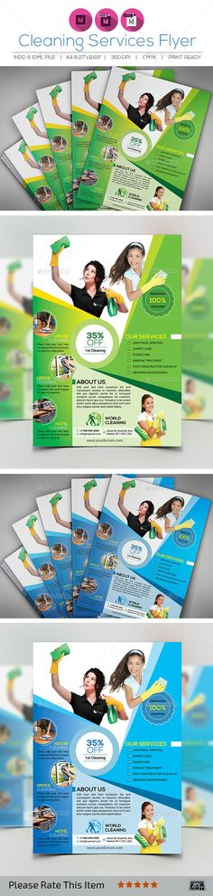 Cleaning Services Flyer — InDesign INDD #glass clean #design • Available here → https://graphicriver.net/item/cleaning-services-flyer/12992322?ref=pxcr