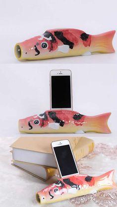 Fish iPhone Speaker Sound Amplifier Stand Dock