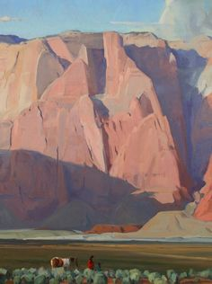"""""""Long Shadows,"""" G. Russell Case, oil on canvas"""