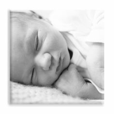 Canvas met babyfoto #newborn #suededesign