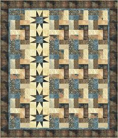 quilt patterns   Safari Adventure - PTN399 I might like to try this in Americana colors
