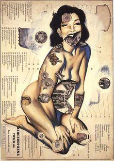 Peintures anatomiques de Fernando Vicente peinture anatomie mecanique 09 art