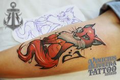Raposa, fox, tattoo, Montijo, Portugal, europe, margemsul, studio, ilustration, ilustratattoo