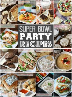 Super Bowl Party Food -- everything from appetizers to dessert perfect for your Super Bowl party! #appetizers #dessert #superbowl #gameday #food #recipe via isthisreallymylife.com