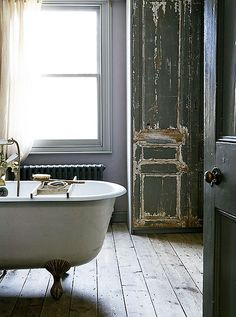 and of course a clawfoot tub for soaking after hikes in the woods. - sfgirlbybay / bohemian modern style from a san francisco girl Bad Inspiration, Bathroom Inspiration, Bathroom Ideas, Houzz Bathroom, Das Haus In Montevideo, Style At Home, Interior And Exterior, Interior Design, Interior Stylist