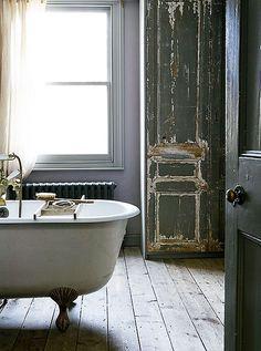 rustic bathing