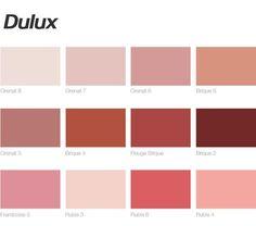 Poligöm / Terracota, Blush, Lipstick, Nude... Dulux Paint Colours Pink, Wall Colors, House Colors, Colour Architecture, Paint Brands, Salon Style, Colour Pallete, Blush Roses, Pink Walls
