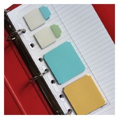 Martha Stewart Home Office with Avery® Planner Insert: Martha Stewart Home Office Planner Insert 20 Notetabs Tabs 50 Sticky Notes. Fits into any planner or binder. Use tabs to organize notebooks and binders. 3 pastel colors, blue, green and yellow. Martha Stewart Office, Martha Stewart Home, Cool Office Supplies, Notebook Organization, Home Management Binder, Stationery Pens, Thing 1, Planner Inserts, Day Planners