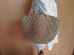 【編み図付き】松編みのマルシェバッグ