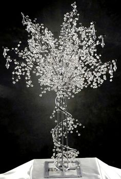 Amazing Crystal Trees! Rented them for a Winter Wonderland Themed event and they were gorg!