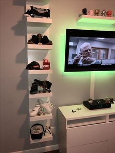 - Ikea DIY - The best IKEA hacks all in one place Bedroom Setup, Ikea Bedroom, Room Ideas Bedroom, Bedroom Decor, Bedroom Boys, Hypebeast Room, Neon Room, Aesthetic Bedroom, Dream Rooms