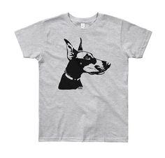 Doberman Pinscher Kids T-shirt, Doberman Youth Shirt, Personalised Kids Shirt, Custom Nephew Gift, G Gifts For Dog Owners, Dog Lover Gifts, Nephew Gifts, Doberman Pinscher Dog, Kids Wear, Kids Shirts, Youth, Kids Shop, Mens Tops