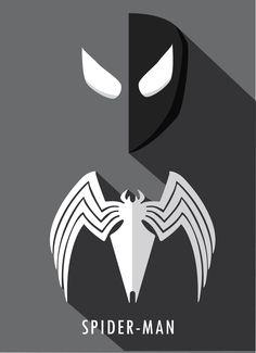 Symbiote Spiderman Minimalist; Black Spiderman