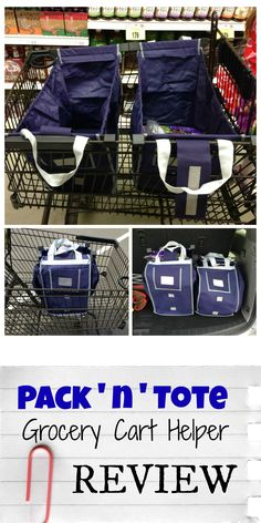 Pack 'n' Tote Reusable Grocery Cart Bag review by mamabelly.com