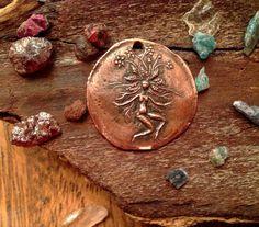 Shibuichi Mandrake Coin Pendant by cynthiathornton on Etsy, $20.00