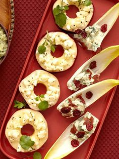 Cheese, Bacon and Cranberry Endive Boats #recipe