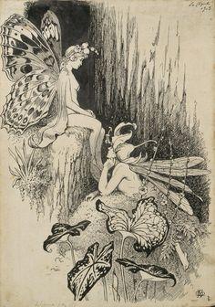 Pretty Art, Cute Art, Art Inspo, Image Swag, Fairy Drawings, Drawn Art, Arte Obscura, Arte Sketchbook, Fairytale Art