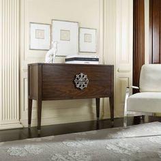 Hooker Furniture Melange 2-Drawer Medallion Console in Walnut - 638-85096