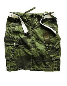 G-Star camouflage rok met witte riem