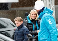 Newmyroyals: Norwegian Royals Attend 2018 Holmenkollen Ski Festival, March 11, 2018-Prince Sverre Magnus and Crown Princess Mette-Marit