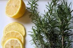 Williams Sonoma Scent DIY---change lemon to 1c lemon juice,1/2 tsp lemon extract,1tsp dried rosemary leaves,1 T vanilla extract and 1c water. boil for 5min then let simmer till amount is reduced by half. Cool and strain rosemary leaves. To the remaining mixture add the same amount of rubbing alcohol and pour into spray bottle. Natural Febreeze alternative.